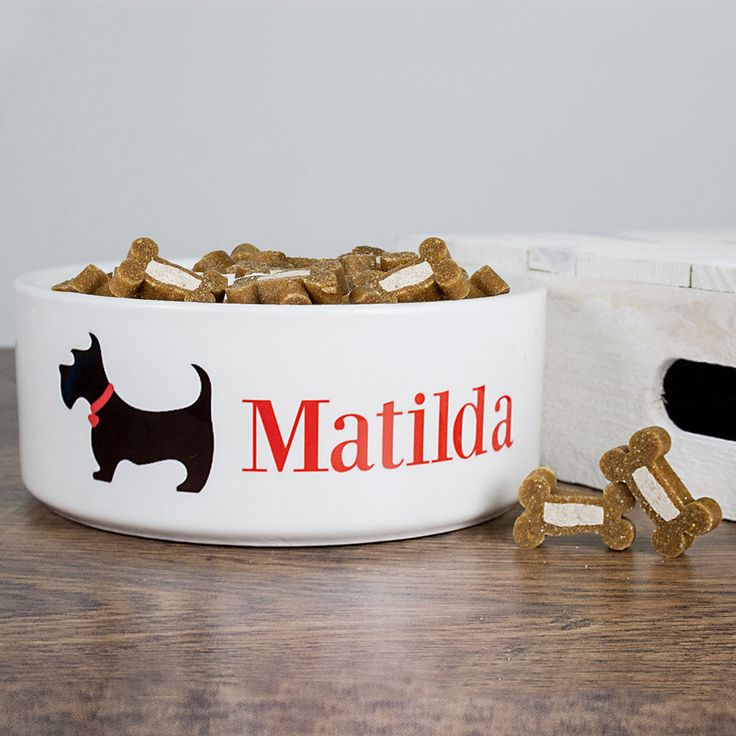 Cute and trendy Personalised Scottie Dog Food Bowl - yourgifthouse