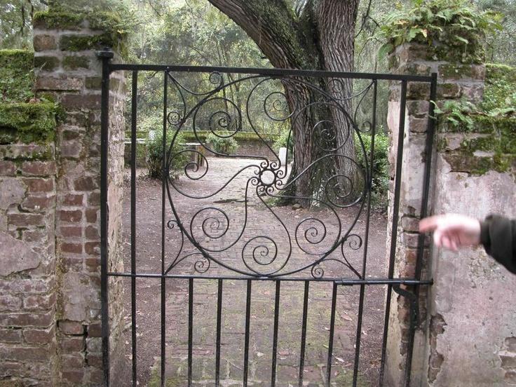 Iron Gate At The Alston Family Cemetery Brookgreen