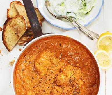 Chicken Tikka med gurksallad