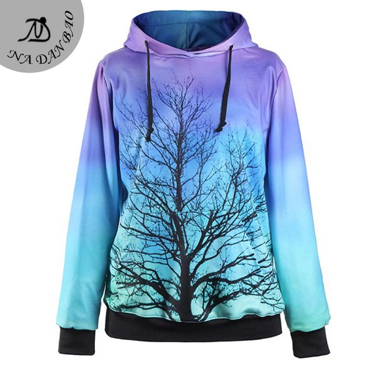 Aliexpress.com : Buy Gradient Winter Tree Hoodies Printed Sweatshirt Women moletom Female Suit Hoodies Outside Woman sudaderas mujer from Reliable suit leather suppliers on NaDanBao speciality Store