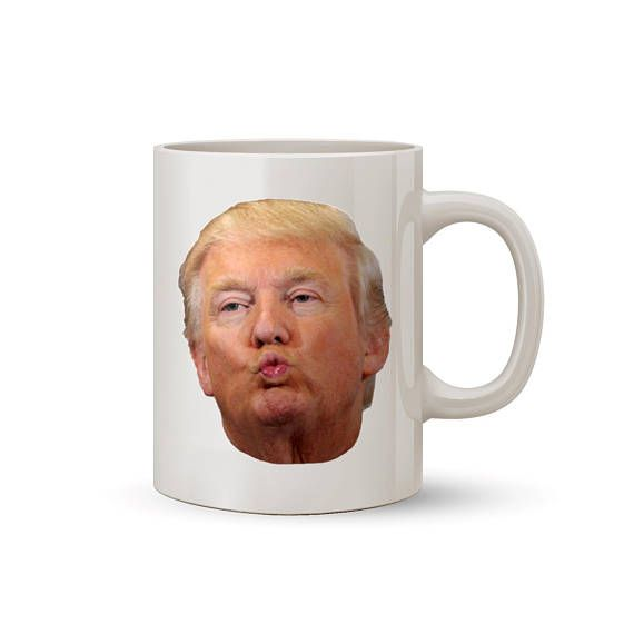 Trump Kiss Face Mug Coffee/Tea Mug  Perfect Gift for