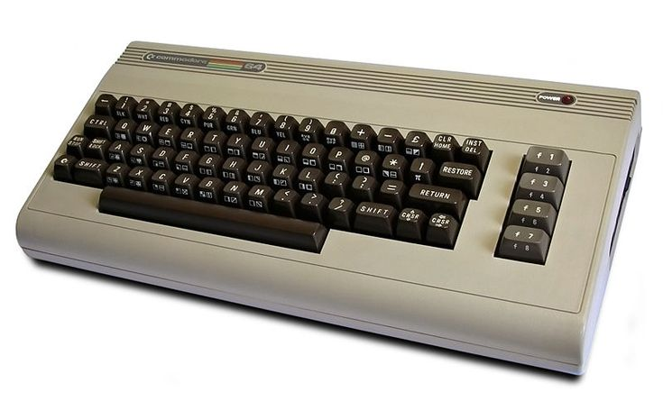 My first computer: Commodore (64K memory!)