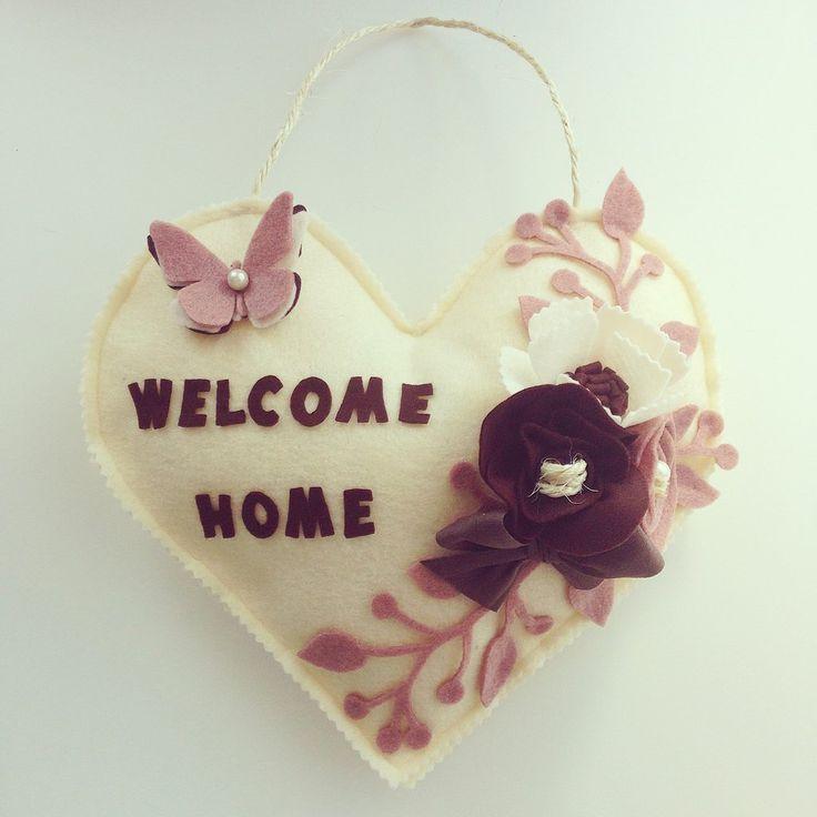 Fuoriporta a cuore WELCOME HOME, by Briciole, 20,00 € su misshobby.com