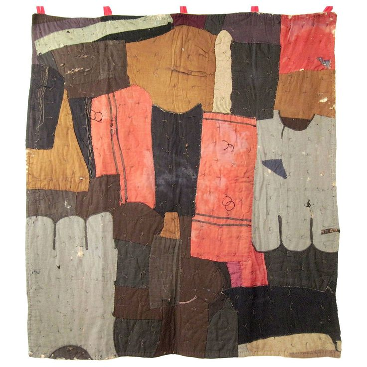 Maker unknown, rare African American Quilt, circa 1900   From a unique collection of antique and modern quilts at https://www.1stdibs.com/furniture/folk-art/quilts/