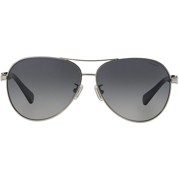 Coach Hc7048 59 L107 Multicolor Aviator Sunglasses ($235) ❤ liked on Polyvore featuring accessories, eyewear, sunglasses, logo lens sunglasses, colorful sunglasses, american aviator sunglasses, aviator glasses and uv protection glasses