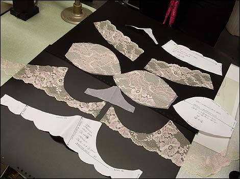 Bra pattern cutting