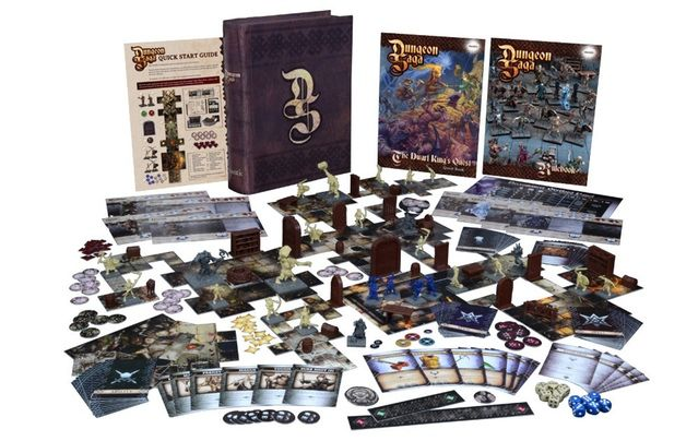 Dungeon Saga: The Dwarf King's Quest by Mantic Games — core game box contents
