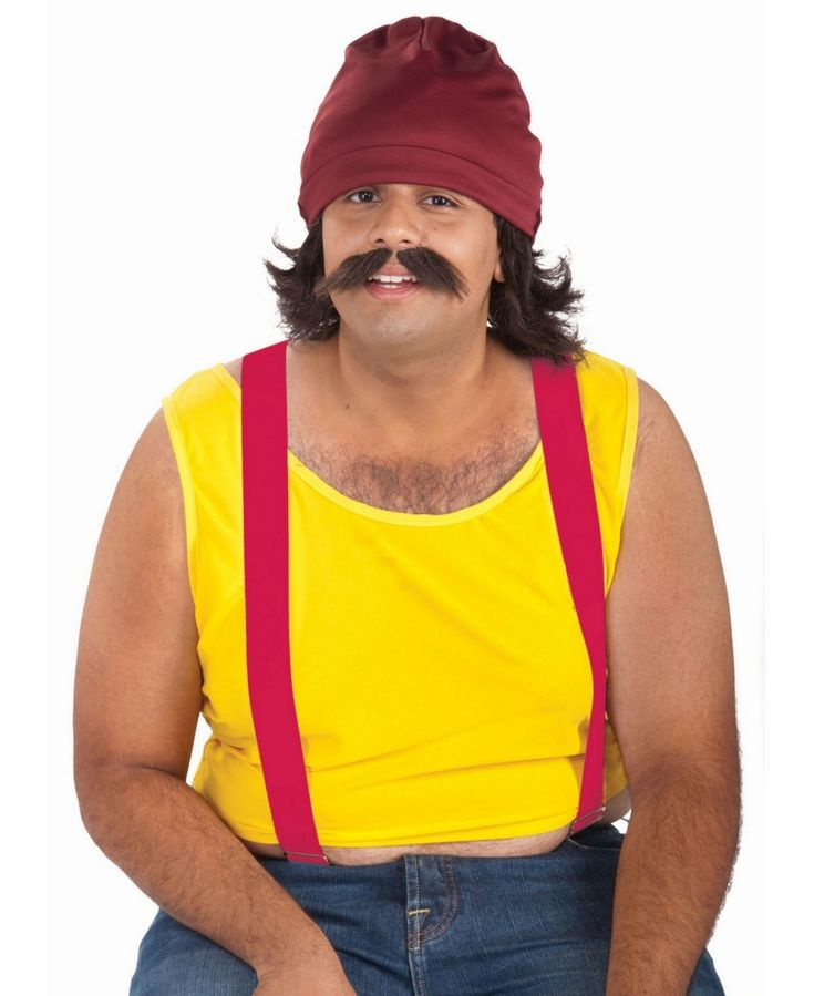 BuySeasons Cheech Kit - Cap, Wig and Moustache - Black ...