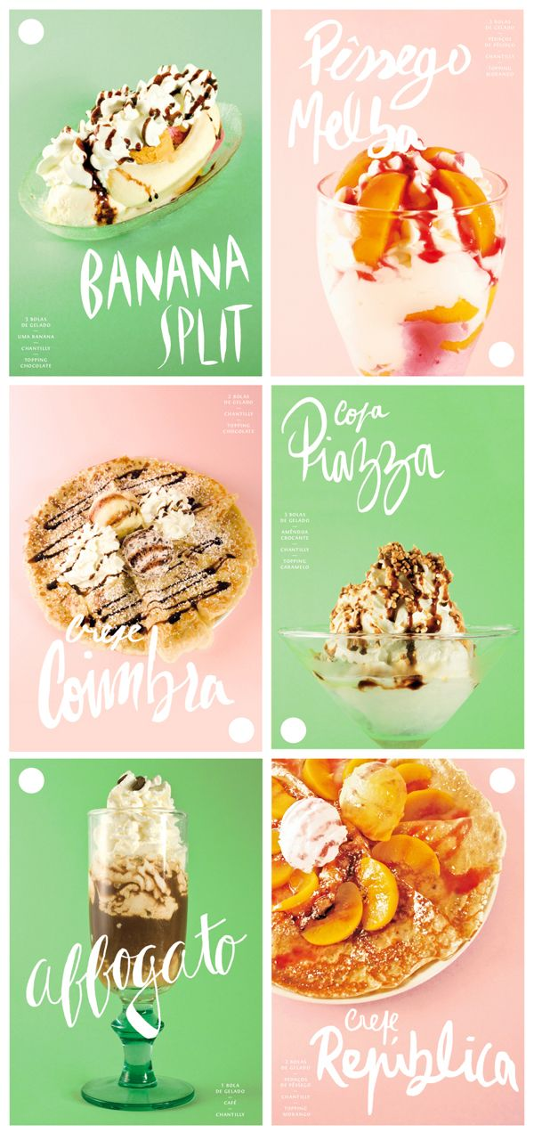 Ice cream menu on Behance