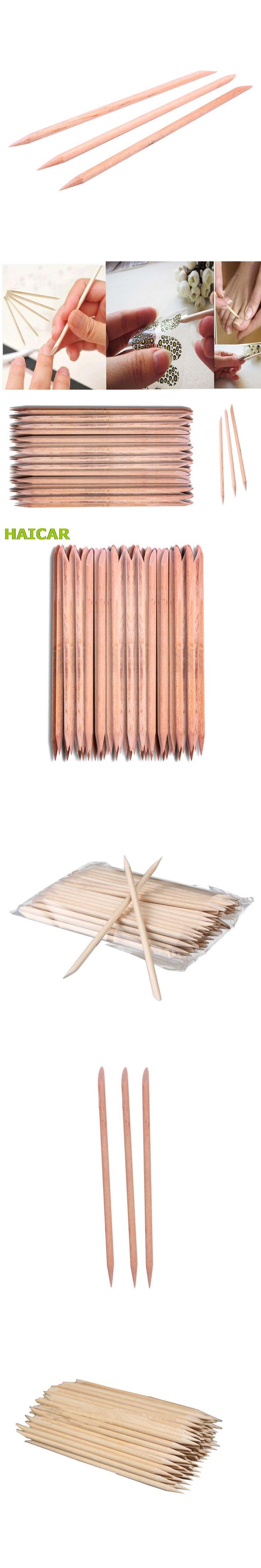 100Pcs Nail Art Orange Wood Stick Cuticle Pusher Remover Pedicure Manicure Tool 7.4CM For Women Beauty Dropship