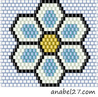 Brick stitch flower