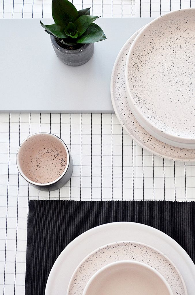 ÅOOMI's first tableware collection has been inspired                 by structure of stones and minerals. Whole ceramic collection has been created using the colour, texture                 and structure developed after a very long process of experiments to create an unique glaze...