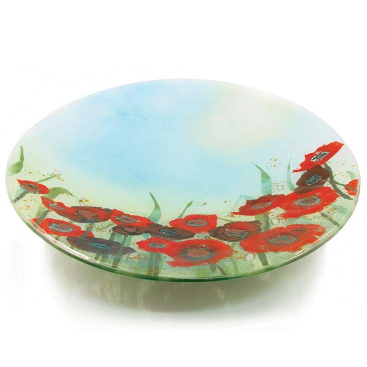 Poppy Field Design, fused glass, bowl