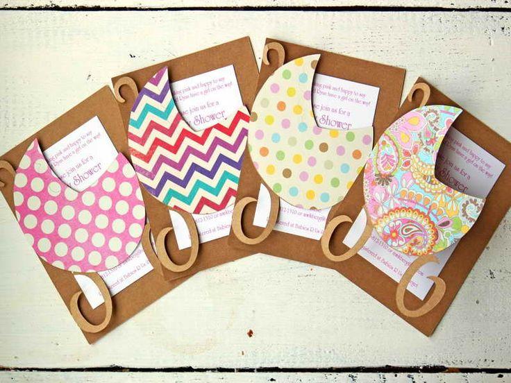 Girl Trendy Baby Shower Ideas Invitation