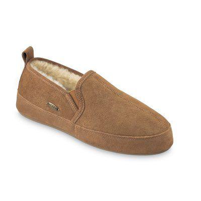 Acorn Mens Romeo II Sheepskin Slippers Walnut, Men's, Size: Slipper Size 11 - A10783BEZM11, Durable