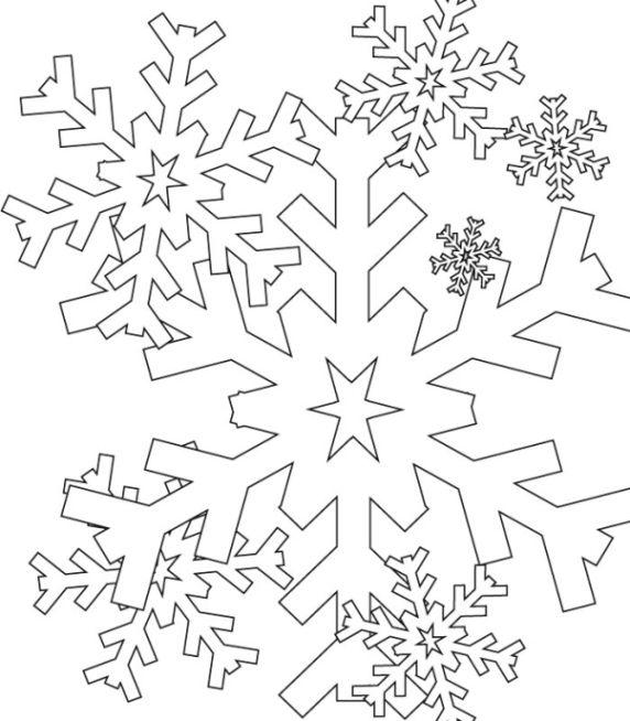 ausmalbilder schneeflocken  ausmalbilder für kinder