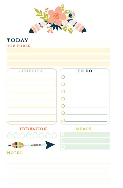 Dakota Theme Printed Daily Planner Inserts at The Planner Market
