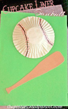 3D Cupcake Liner Baseball Craft, cute for Father's Day or birthday