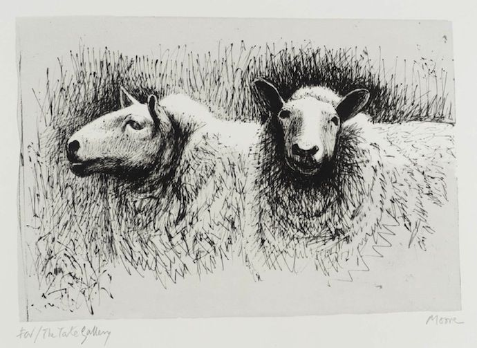 "Генри Мур, ""Sheep before shearing"". 1974  Источник: http://buro247.ru/culture/collections/desyat-faktov-o-genri-mure.html"