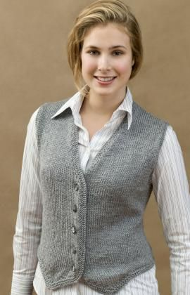 free pattern  redheart.com.  Mom's been asking for a vest.  This should do nicely.
