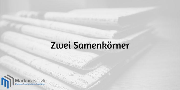"""Soeben wurde eine neue Kurzgeschichte veröffentlicht mit dem Titel: """"Zwei Samenkörner""""  Jetzt lesen -> http://www.markusspitzli.com/ressourcen/kurzgeschichten/zwei-samenkoerner/"""