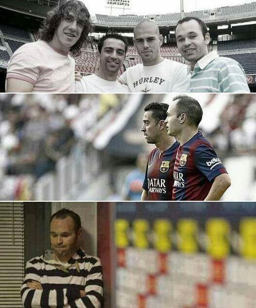 Przyjaciele Hiszpana już nie grają w FC Barcelonie • Andres Iniesta został sam w Katalońskim klubie • Xavi, Valdes, Puyol • Zobacz >> #barca #barcelona #fcbarcelona #iniesta #football #soccer #sports #pilkanozna