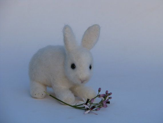 Needle felted little bunny #needlefelted #cute #bunny #doll #gift #toy #home #room #nursery #decor