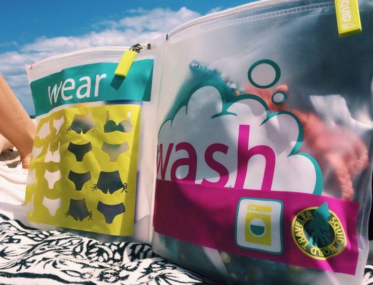 Bolsa Wear & Wash, práctico accesorio para la playa, gimnasio, deporte, picnic, bebé, viajes. Multifuncional y linda. Regalo original
