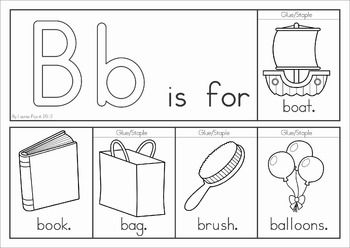 Alphabet Flip Books - Color and Black & White. Fantastic paper saving idea - a little booklet made from just one piece of paper!