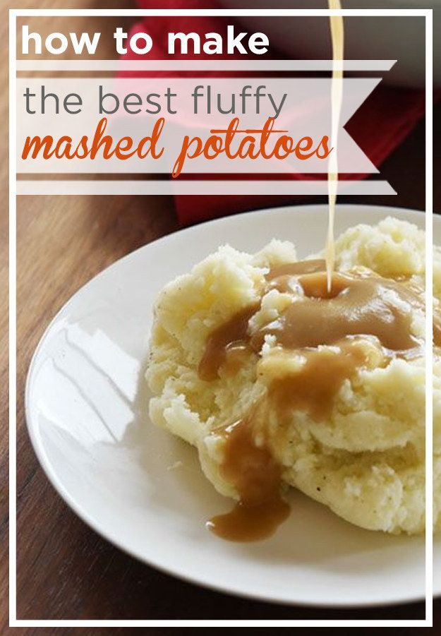 How To Make The Best Fluffy Mashed Potatoes- These are THE potatoes we are obsessed with.  SOOOO yummy!