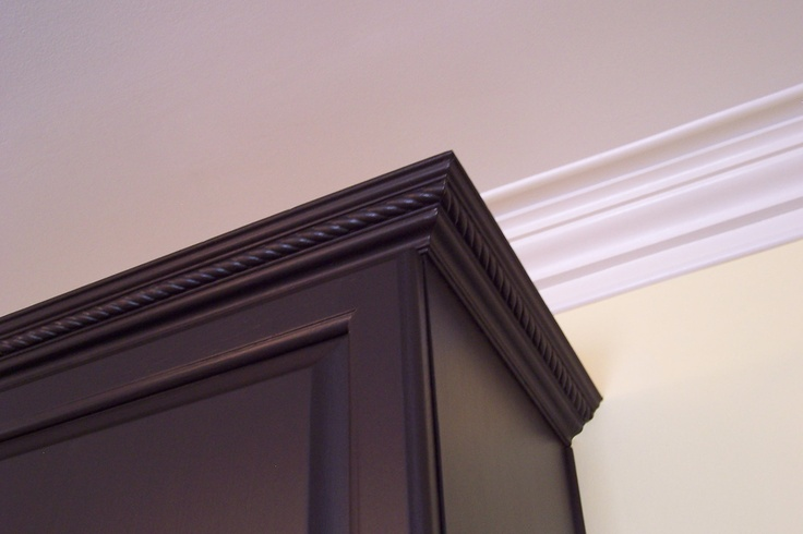 Dress Up Boring Kitchen Cabinets And Ceiling By Adding