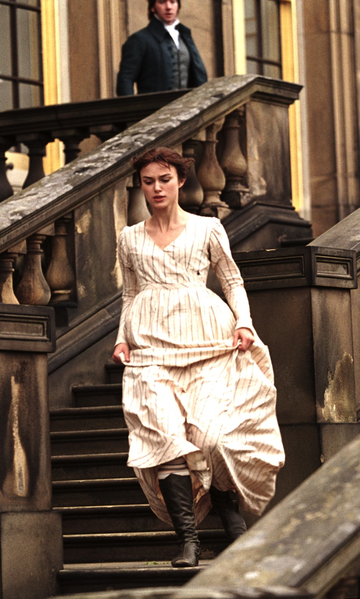 """Keira Knightley as Elizabeth Bennet in Pride and Prejudice (2005). """"I thought you were in London!"""""""