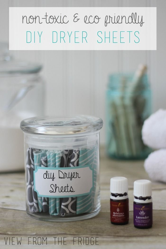 DIY Homemade Dryer Sheets   View From The Fridge