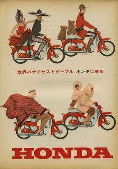 (1963) Vintage Honda Motorcycle Ad