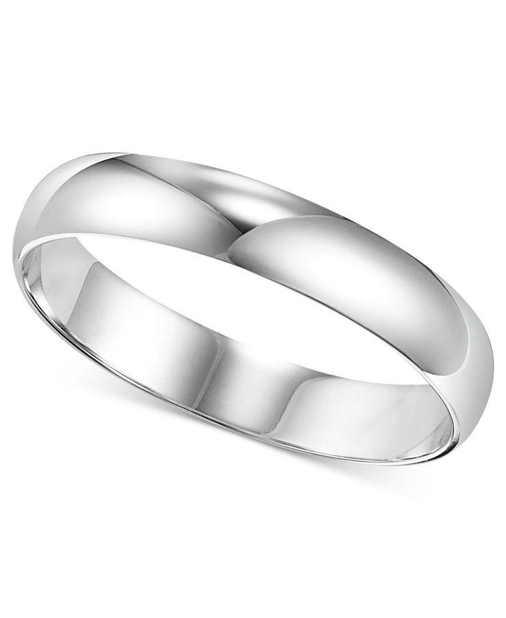 Men's Platinum Ring, 4mm Wedding Band