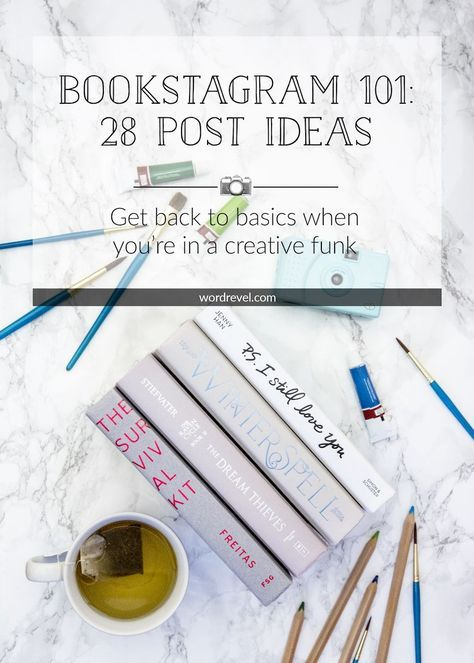 Bookstagram 101: 28 Post Ideas | Inspiration is sometimes hard to come by, especially when the subject matter constantly is books. That's why I've decided to share this list to help you out when you're looking to push your bookstagram creativity. For the most part, these are fairly simple points but they're a good anchor for photographing relevant content.