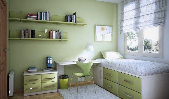 Chambre ado verte