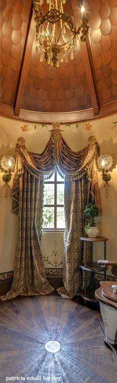 Tuscan Style Window Treatment   Jonathan Steele 534 Best Window Treatments Images On Pinterest Sheet Curtains  Tuscan  Window Treatments