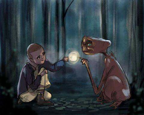 Awww my two favorites!! E.T. was my favorite movie in the 80's!