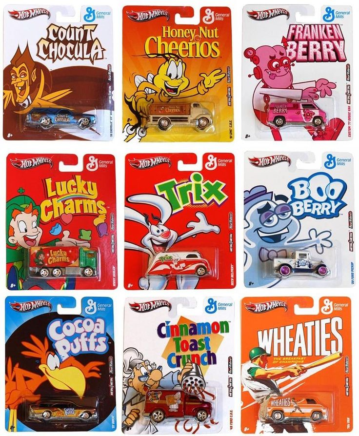 Hot Wheels Nostalgia General Mills Car Set of 9 *New*