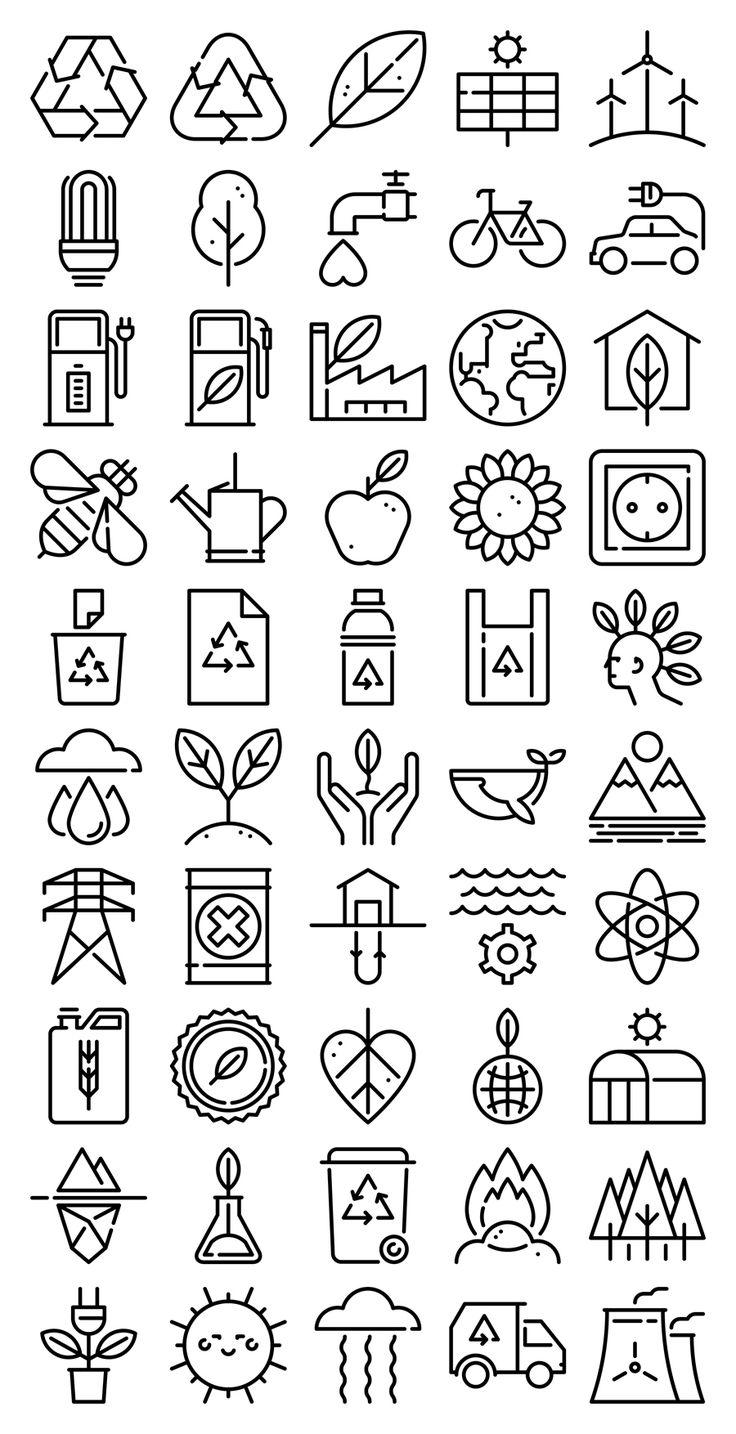 Ecology icons. Freepik.