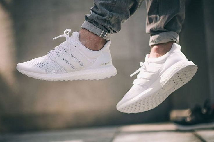 Adidas Ultra Boost On Feet White