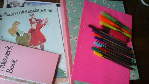 Colourful school supplies makes me happy
