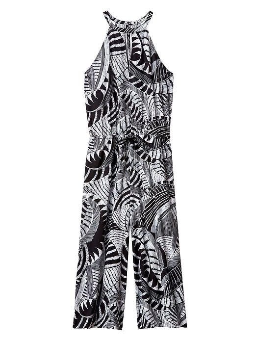 0b89e9bb24f67 Sol Printed Wide Leg Romper in 2019   Rome   Rompers, Stretch fabric ...