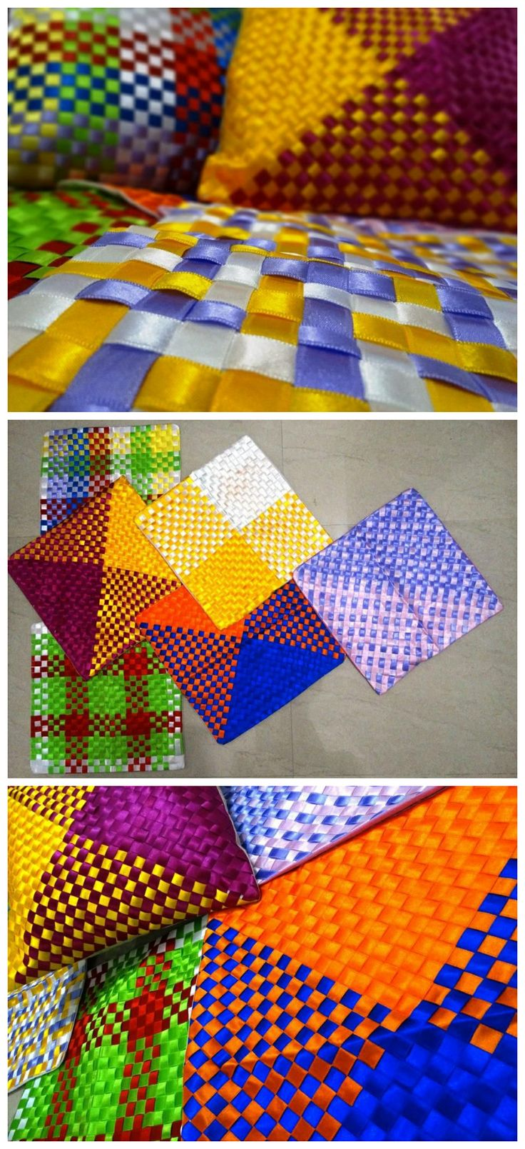 Ribbon Weave Cushions  kid's camp