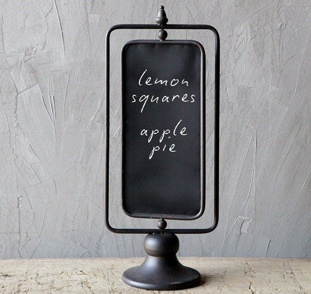 Tabletop Chalkboard On A Stand | Small Chalkboard Signs