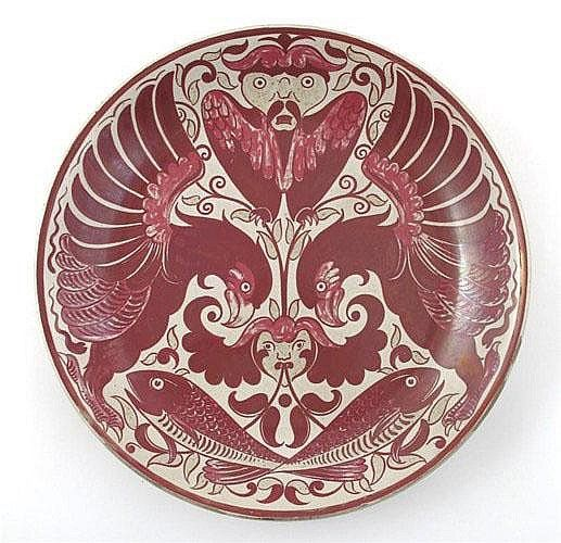 William Frend De Morgan (British, 1839-1917), Luster Glaze Decorated Stoneware Charger.