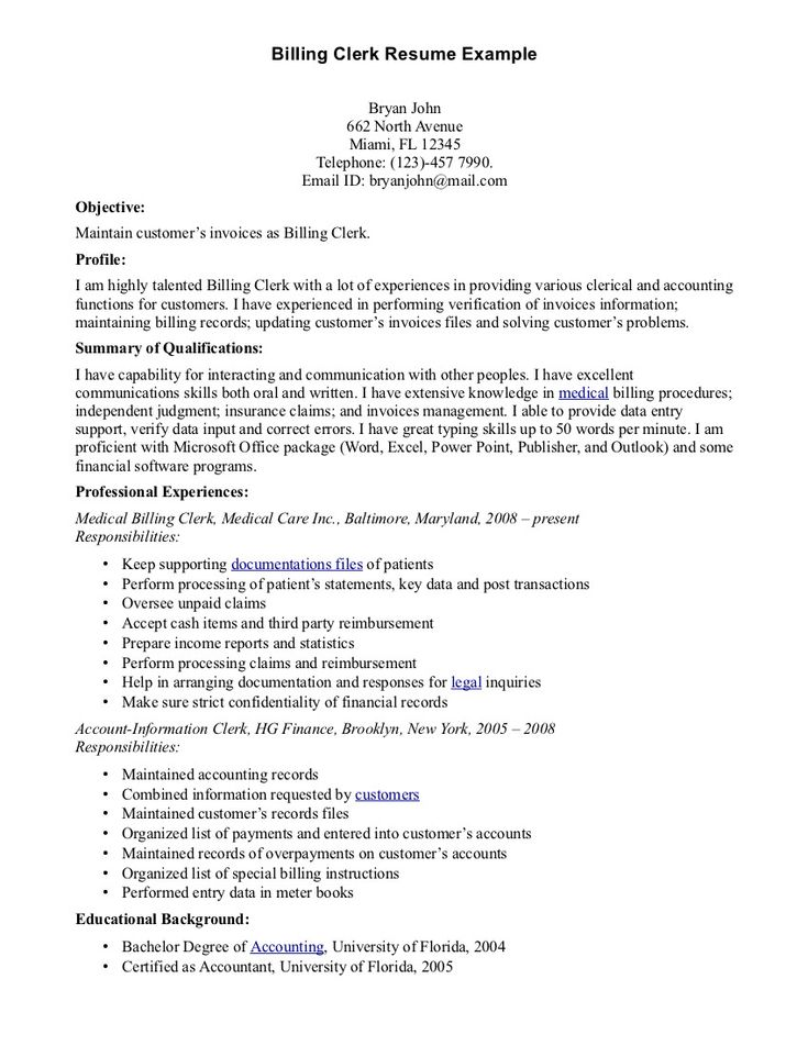 Applicant Resume Sample For Clerk gentileforda