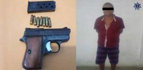Policía Estatal detiene a sujeto por violación a la ley federal de armas de fuego y explosivos en la costa
