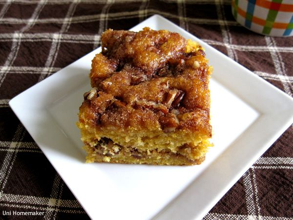 Pumpkin Maple Coffee Cake | Why I Workout | Pinterest
